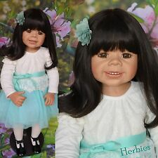 "Masterpiece Dolls Ani  Asian Twin by Monika Levenig, 34""  Brown Eyes IN STOCK"