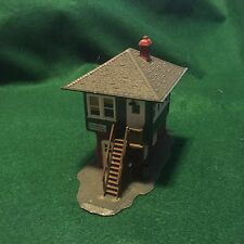 Vintage fully assembled Plastic Train Station  Model Train or Table Top Scenery