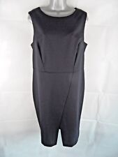 NEXT Blue Size 18R Tailored Pencil Wiggle Dress, Smart Work 40% Wool Plus Size
