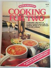Quick & Delicious Cooking For Two Cookbook / Johna Blinn 64 Pages 1989 Paperback