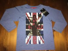 MARKS & SPENCERS M&S BOYS QUEEN LONG SLEEVE BLUE TOP AGE 4 - 5 YEARS BRAND NEW