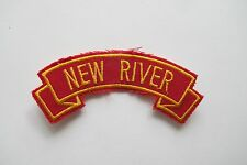 #6716 NEW RIVER Word Tag Embroidery Sew On Applique Patch