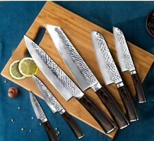 Set Japanese kitchen Knives santoku kiristuke chef cleaver steak Damascus knife
