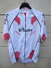 Maillot cycliste B'TWIN One Road Décathlon blanc cycling shirt jersey XL 104/111