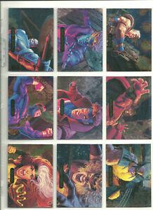 1994 MARVEL MASTERPIECES Power Blast Complete Card SET 1-9