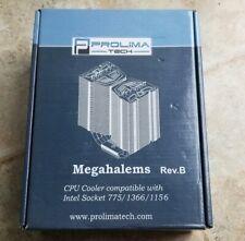 NEW Prolimatech Megahalems cpu cooler Intel Socket 775/1366/1156