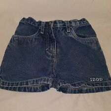 Blue Jeans Denim Shorts Size 3T Girls IZOD Summer Toddler