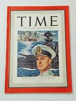 Vintage Time Magazine February 17, 1941 Cunningham Admiral of the Mediterranean