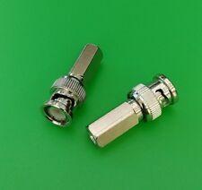 (1 PC) BNC Male Twist-On Connector for RG58 Teflon - USA Seller