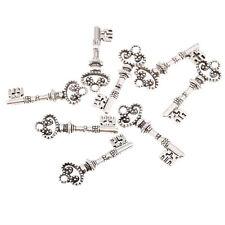 Key Tibetan Silver Bead charms Pendants fit bracelet 10pcs 30*10mm free ship