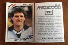Panini mexico 86 Copa del Mundo - # 337 Roy Aitken-Escocia