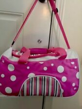 Pink Duffell Bag, Zipper Closure and Adjustable Strap
