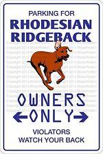 "*Aluminum* Parking For Rhodesian Ridgeback 8""x12"" Metal Novelty Sign Ns 461"