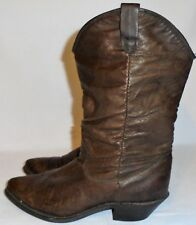 DINGO, LADIES BROWN DISTRESSED SOFT LEATHER SLOUCH PULL ON BOOT, SIZE 5 M