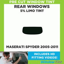 Pre Cut Window Tint - Maserati Spyder 2005-2011 - 5% Limo Rear