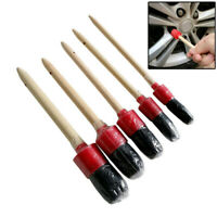 5Pcs Car Detailing Brush Cleaning Tool Natural Boar Hair Brushes Tools Auto Care