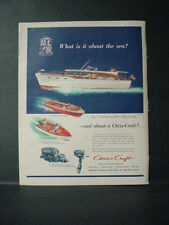 1952 Chris-Craft 52-ft Conqueror Double Cabin Flying Bridge Boat Vtg Ad 11089