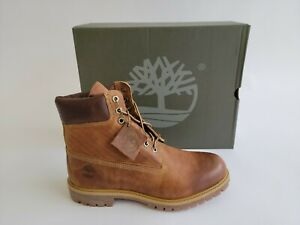 """Timberland Classic 6"""" Premium Heritage Brown Leather Waterproof Boot for Men"""