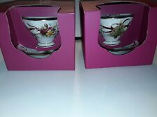 ROYAL ALBERT OLD COUNTRY ROSES CHRISTMAS TREE 2 CUPS AND SAUCERS NEW