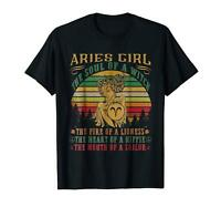 Aries girl the soul of a witch mouth of a sailor 100% Cotton Soft Black T-shirt