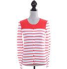 Tommy Hilfiger Women Stripe Long Sleeve Cardigan Pullover Sweater - Free 0 Ship