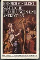Heinrich von Kleist-Sämtliche Erzählungen und Anekdoten