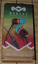 "NEW! HOUSE OF (BOB) MARLEY IN-EAR EAR BUDS ""RASTA"" SMILE JAMAICA 1 BUTTON REMOTE"