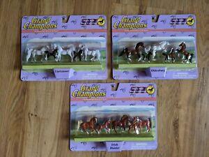Lot Of 3 Empire Grand Champions Micro Mini Horse Collection
