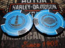 Harley Light Blue & Black Poker Chip From New Bern Harley Davidson New Bern, NC