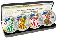 Coin set 1 Dollar USA 2011 BU silver 999,9 ‰ Ag - American eagle (four seasons)