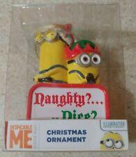 Despicable Me Minion Naughty or Nice Chrismas Ornament  MINT