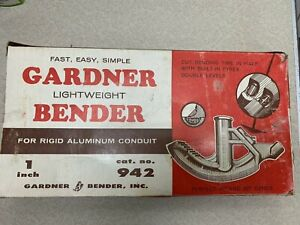 1'' GARDNER LIGHT WEIGHT BENDER 942  FOR RIGID ALUMINUM CONDUIT