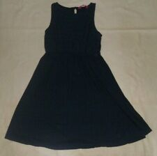 Primark Navy Dress with Broderie Anglaise Front Age 11-12 Years