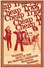 Cheap Trick 1979 Tour Poster