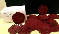 NEW RARE GIFT CHANEL SET of 48 PIECES BURGUNDY PAPER CAMELLIA STICKERS
