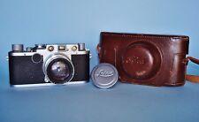 Leica IIf Red Dial 35mm Camera w/ Ernst Leitz Westlar Summitar Lens f=5cm 1:2