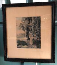 David Davidson Wisteria Hand Colored Photograph Framed Large
