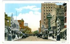 Hackensack NJ -MAIN STREET AT PLACERS FURNITURE STORE - 1920s Postcard