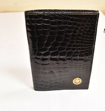 Authentic Gianni Versace Aligator Wallet with Real 18K Gold Medusa Made in Italy