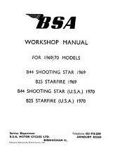 (0377) 1969-1970 BSA B25 & B44 Workshop manual