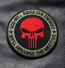 GOD WILL JUDGE PUNISHER INFIDEL TACTICAL MORALE 3.5 INCH HOOK LOOP PATCH