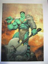 Marvel King HULK Sideshow Collectibles Premium Art Print #89 Signed
