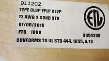 Advanced Digital 911202 12/2C Plenum Audio/Speaker/Communications Cable Wh/100ft