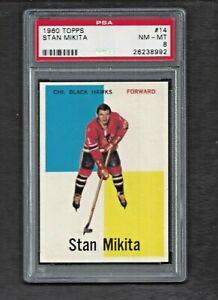 1960 Topps #14 Stan Mikita ROOKIE RC HOF PSA 8 NM-MT Chicago Black Hawks 1960-61