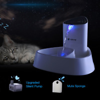 Electric Automatic Pet Dog Cat Water Fountain Drinking Bowl Auto Dish Dispenser