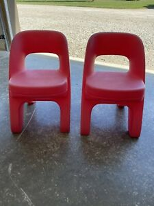 Step 2 Red Chairs Set Pair Lot Child Toddler Outdoor