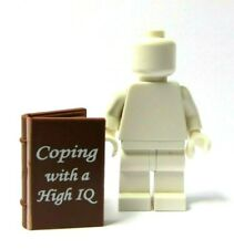 Lego Brown Book School College Student Library    Minifigure Not Inc  High IQ