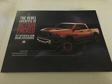 2016 Dodge RAM REBEL 2-page Original Sales Accessory Brochure