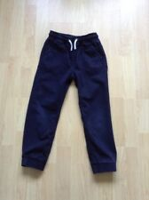 Boys Blue Cuffed Cotton Trousers By Matalan - Age 6