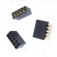 Reliable 10PCS 2x5 10Pin 2.54mm Double Row Female Header Pitch Socket Pin